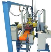 multilayer film chill-roll line ( side view)